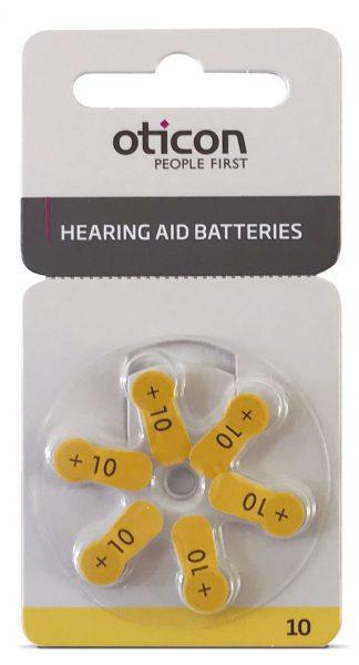 Pilas para audífonos Oticon tipo 10 PR70 1.45V