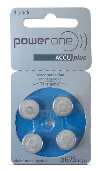Pilas recargables para audífonos  Powerone tipo 675