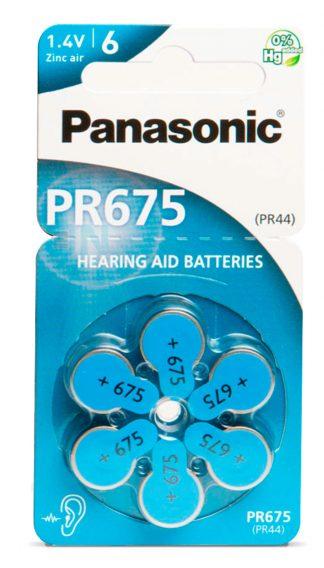 Pilas para audífonos Panasonic tipo 675 PR44 1.45V